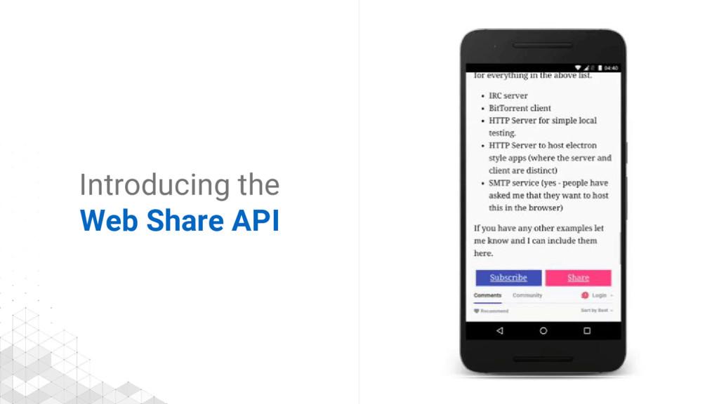 Introducing the Web Share API