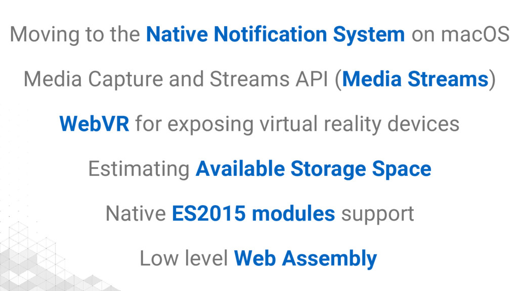 Moving to the Native Notification System on mac...