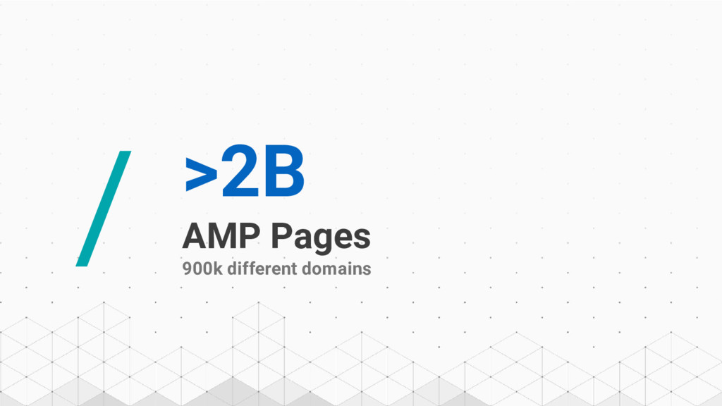 / >2B AMP Pages 900k different domains