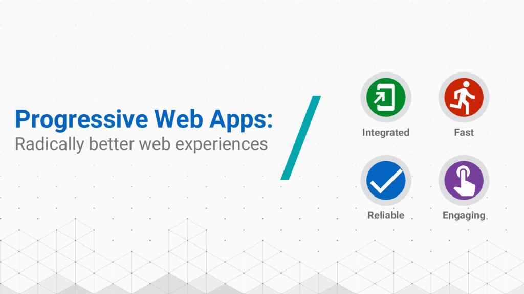 Progressive Web Apps: Radically better web expe...