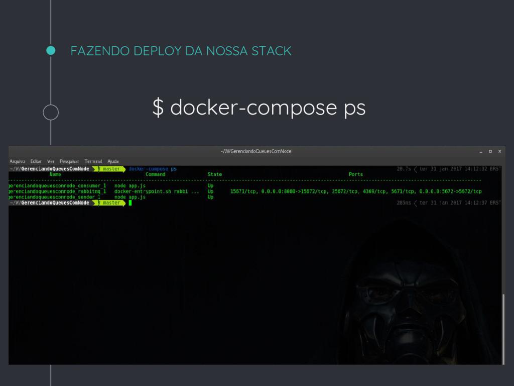 FAZENDO DEPLOY DA NOSSA STACK $ docker-compose ...