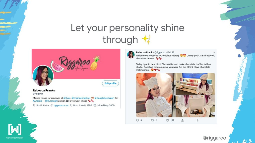 Let your personality shine through ✨ @riggaroo