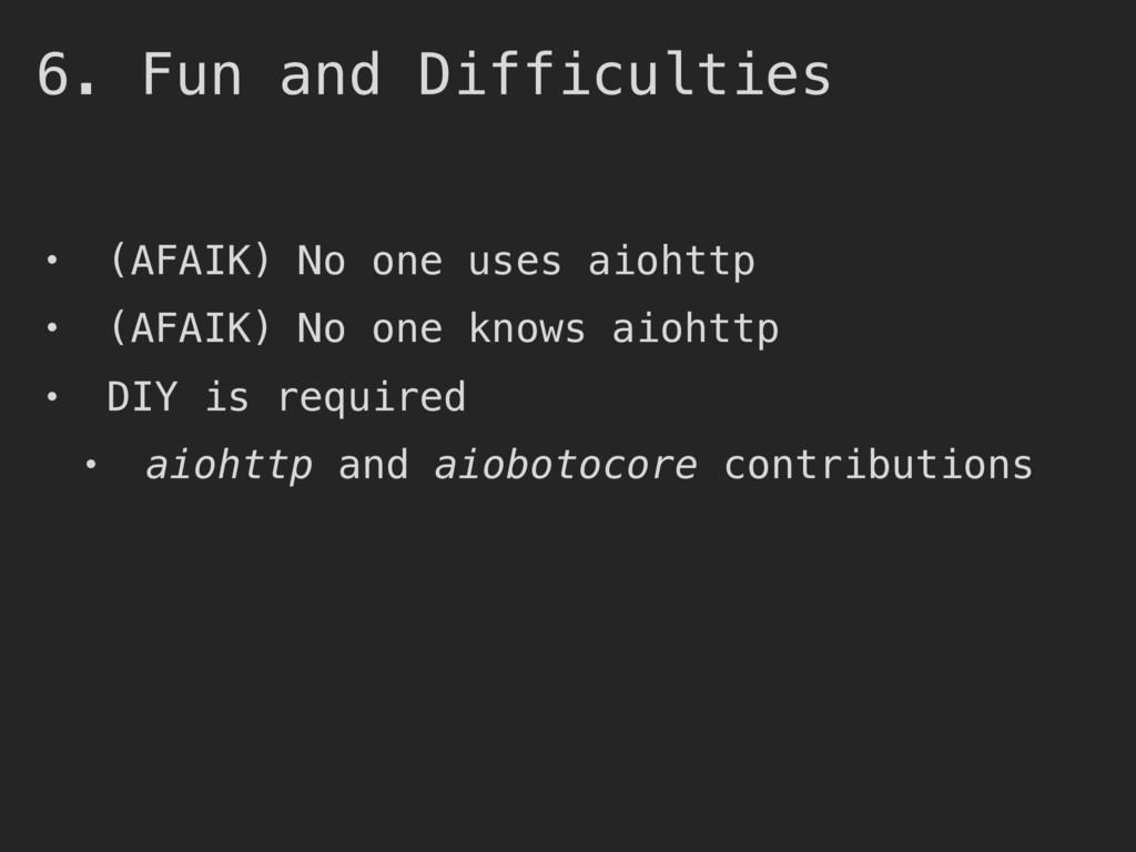• (AFAIK) No one uses aiohttp • (AFAIK) No one ...