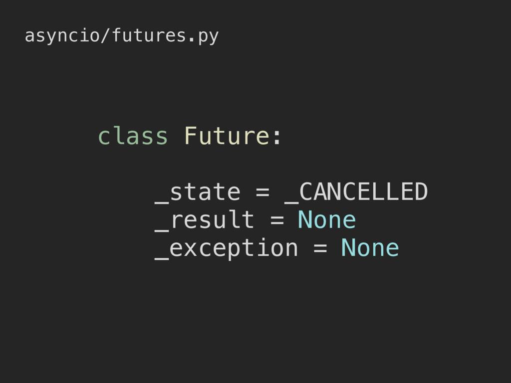 asyncio/futures.py class Future: _state = _CANC...