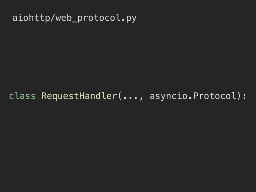 aiohttp/web_protocol.py class RequestHandler(.....