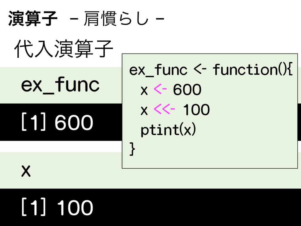 ԋࢠ− ݞ׳Β͠ − ೖԋࢠ ex_func [1] 600 x [1] 10...