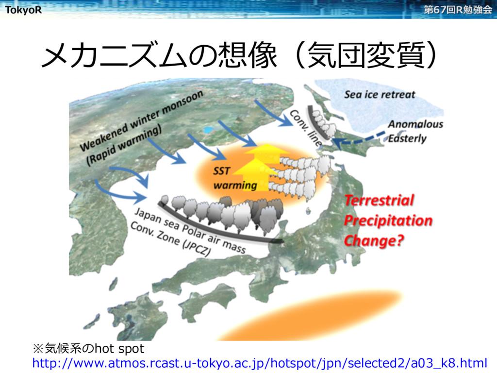 TokyoR 第67回R勉強会 メカニズムの想像(気団変質) ※気候系のhot spot ht...