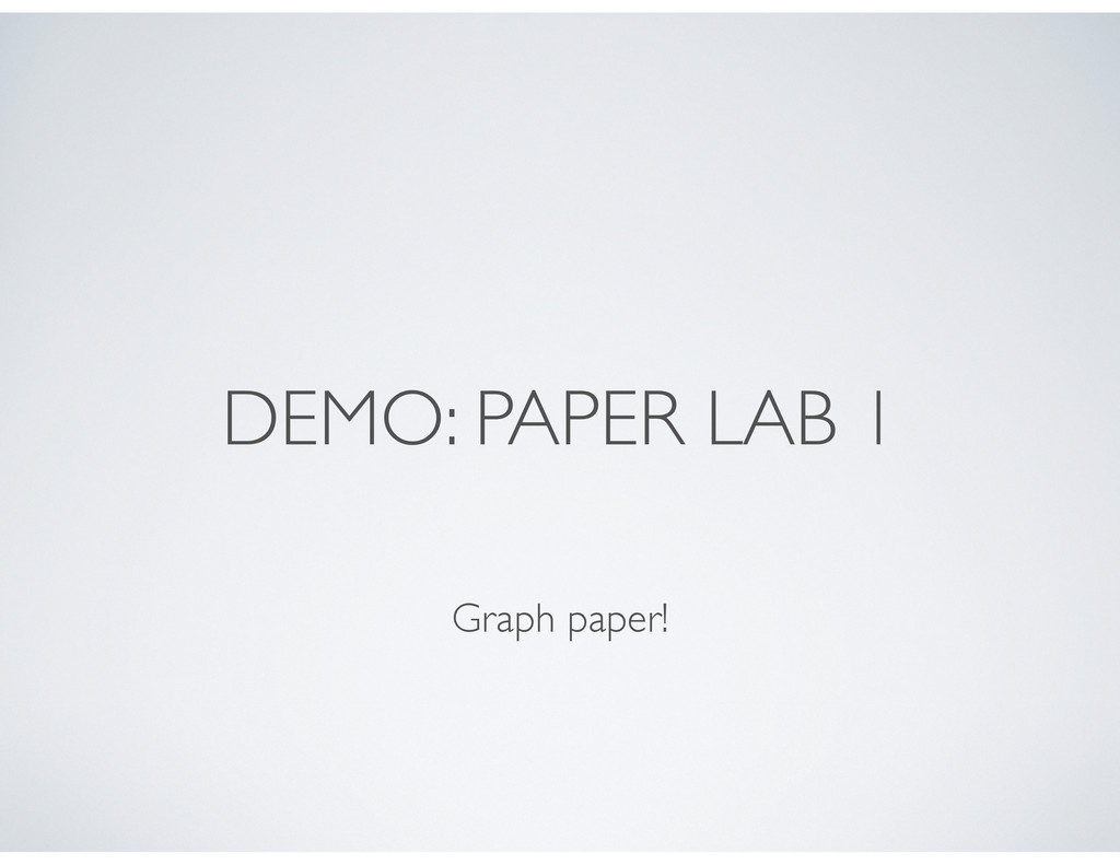 DEMO: PAPER LAB 1 Graph paper!