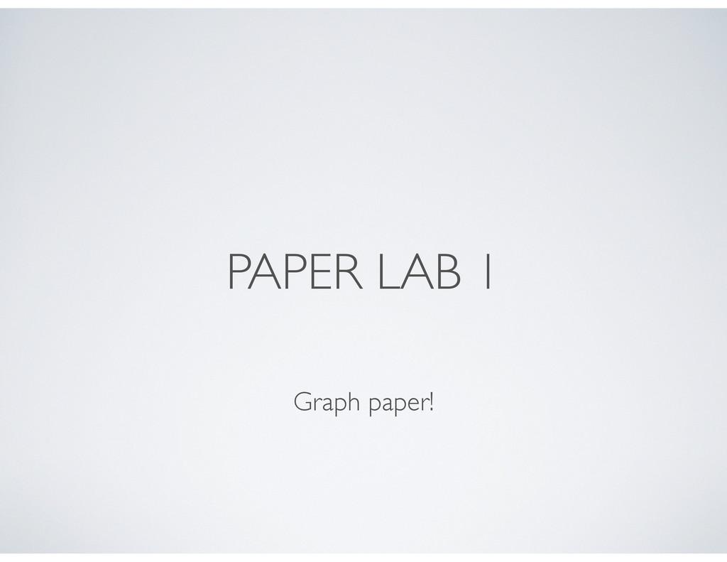PAPER LAB 1 Graph paper!