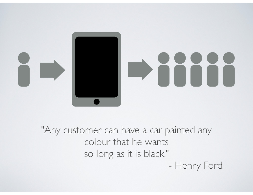 """Any customer can have a car painted any colour..."