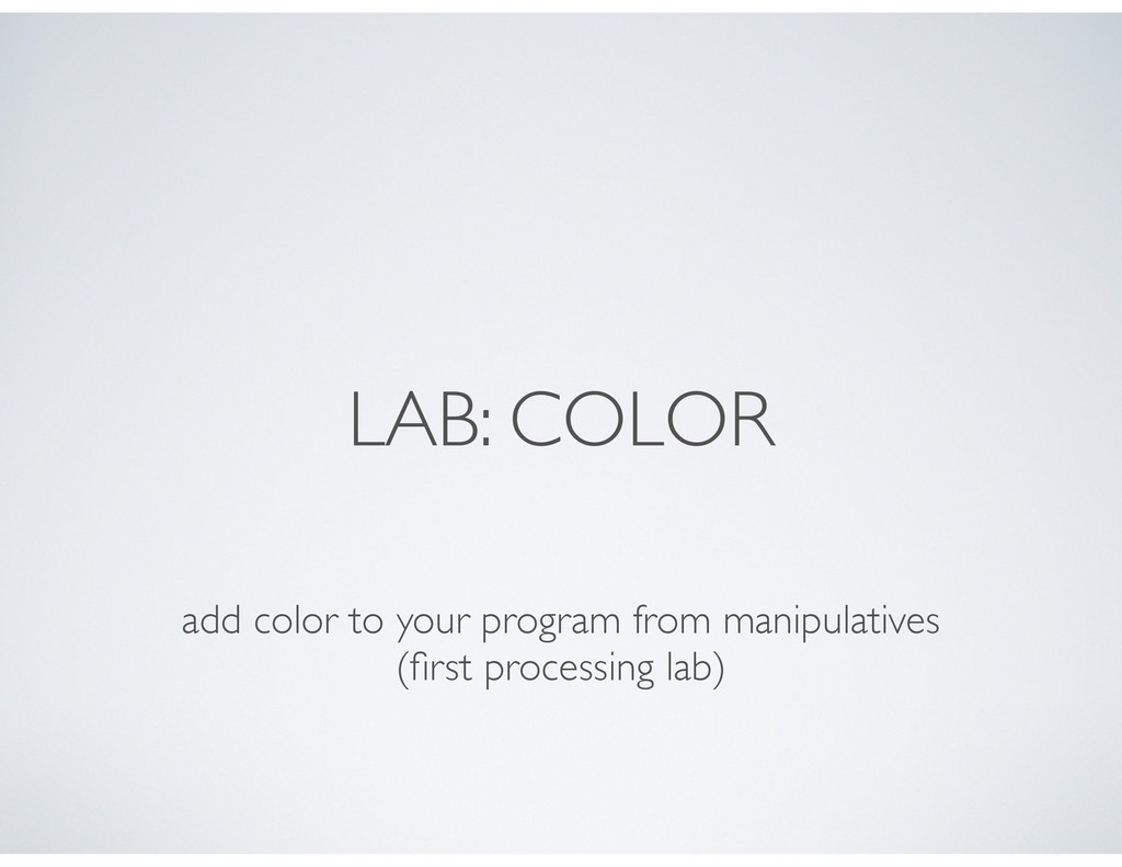 LAB: COLOR add color to your program from manip...