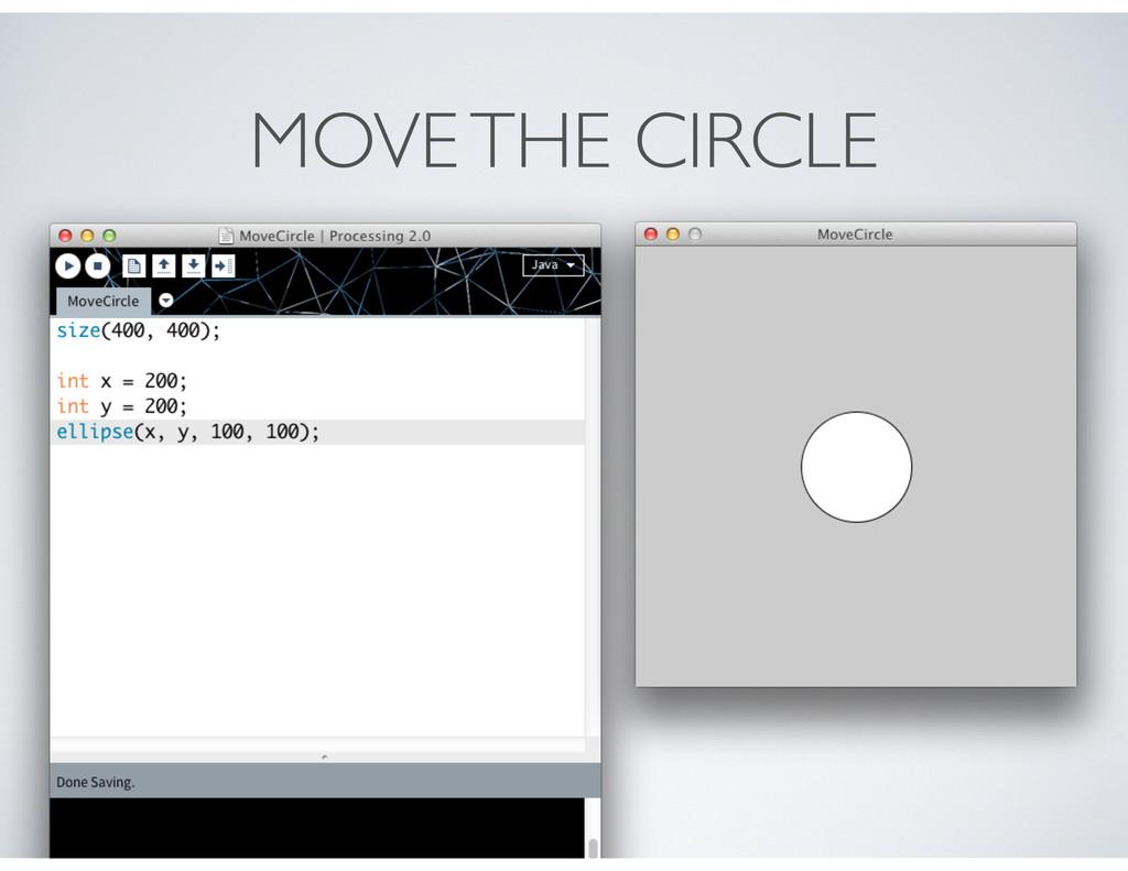 MOVE THE CIRCLE