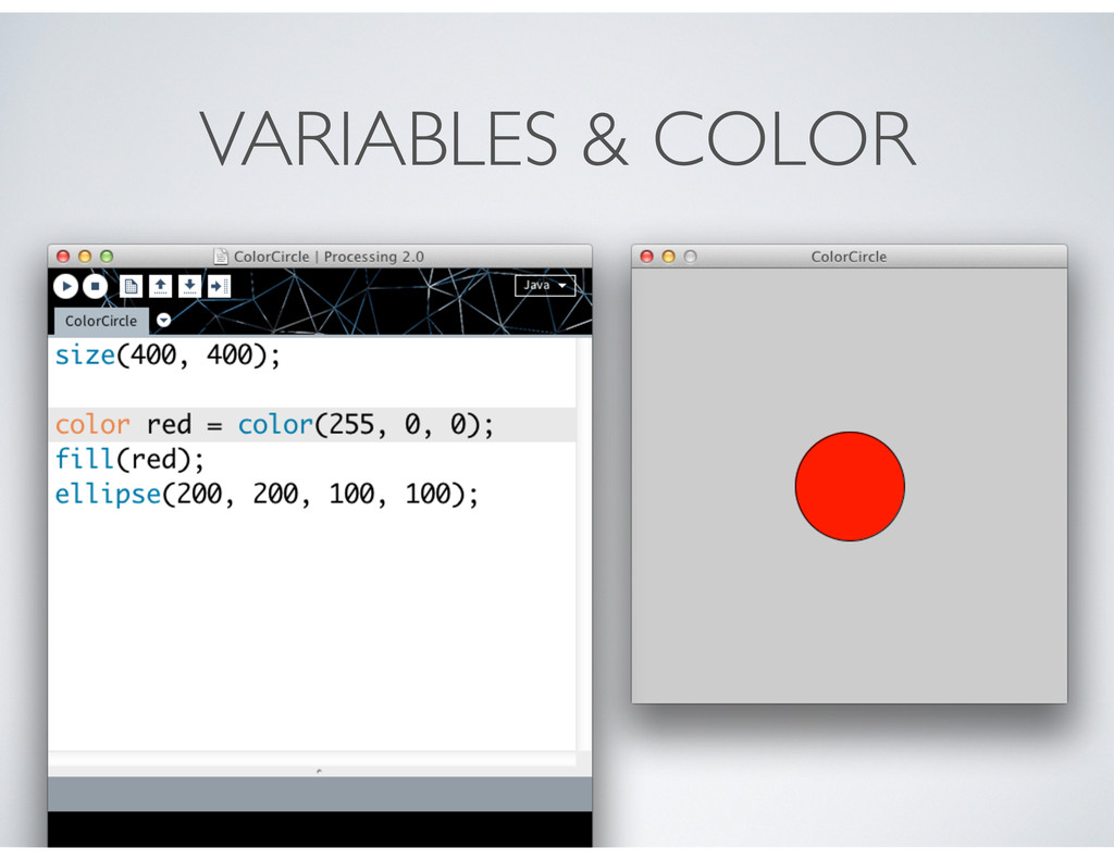 VARIABLES & COLOR