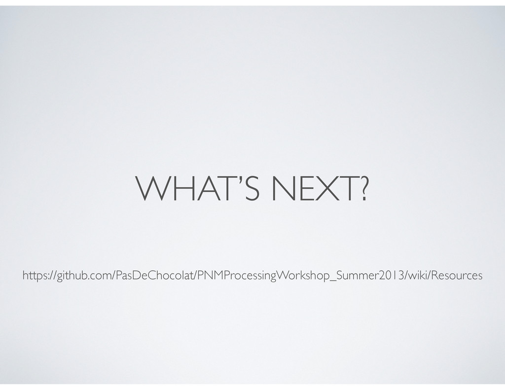 WHAT'S NEXT? https://github.com/PasDeChocolat/P...