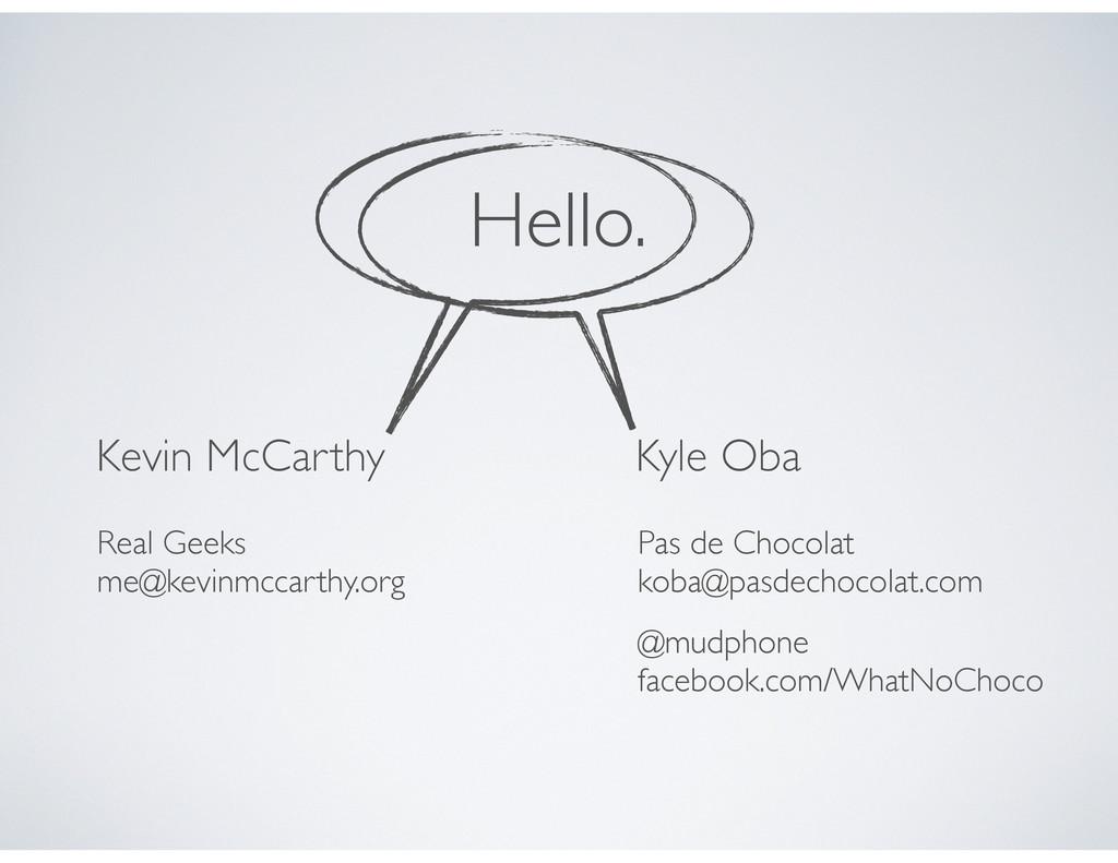 Kevin McCarthy Real Geeks me@kevinmccarthy.org ...