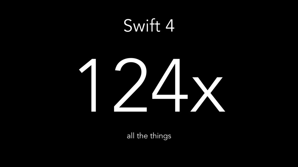 Swift 4 124x all the things