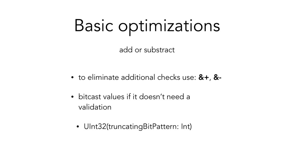 Basic optimizations • to eliminate additional c...