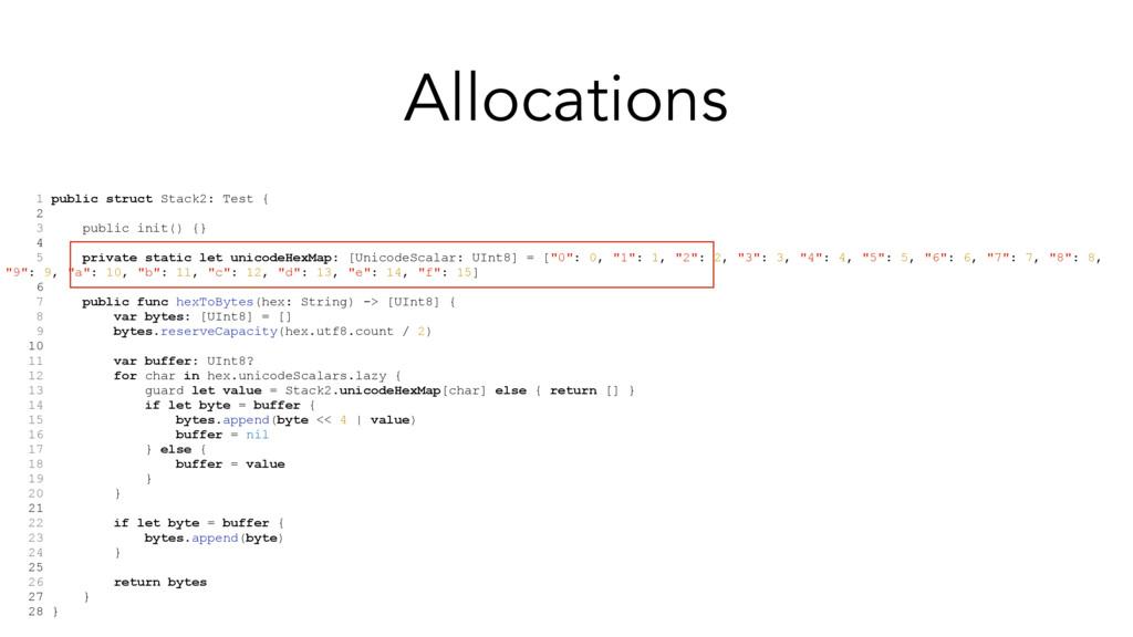 1 public struct Stack2: Test { 2 3 public init(...