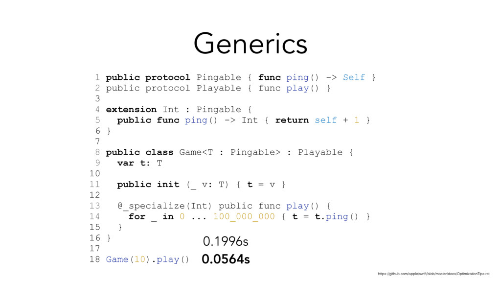 Generics 1 public protocol Pingable { func ping...