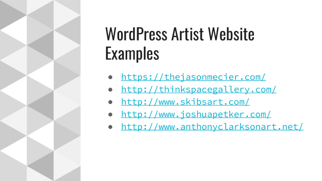 WordPress Artist Website Examples ● https://the...
