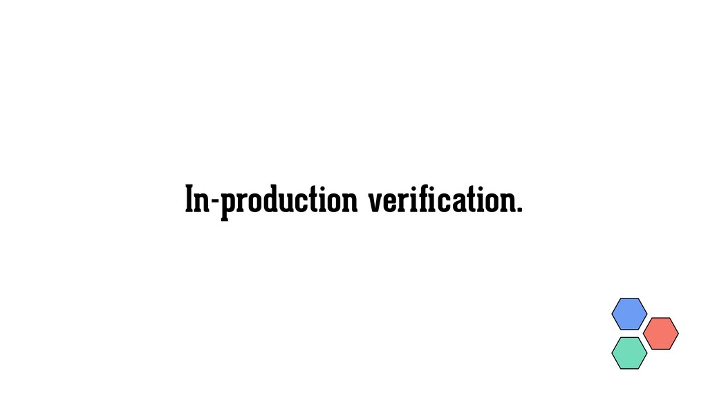 In-production verification.