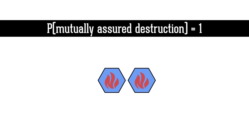 P(mutually assured destruction) = 1