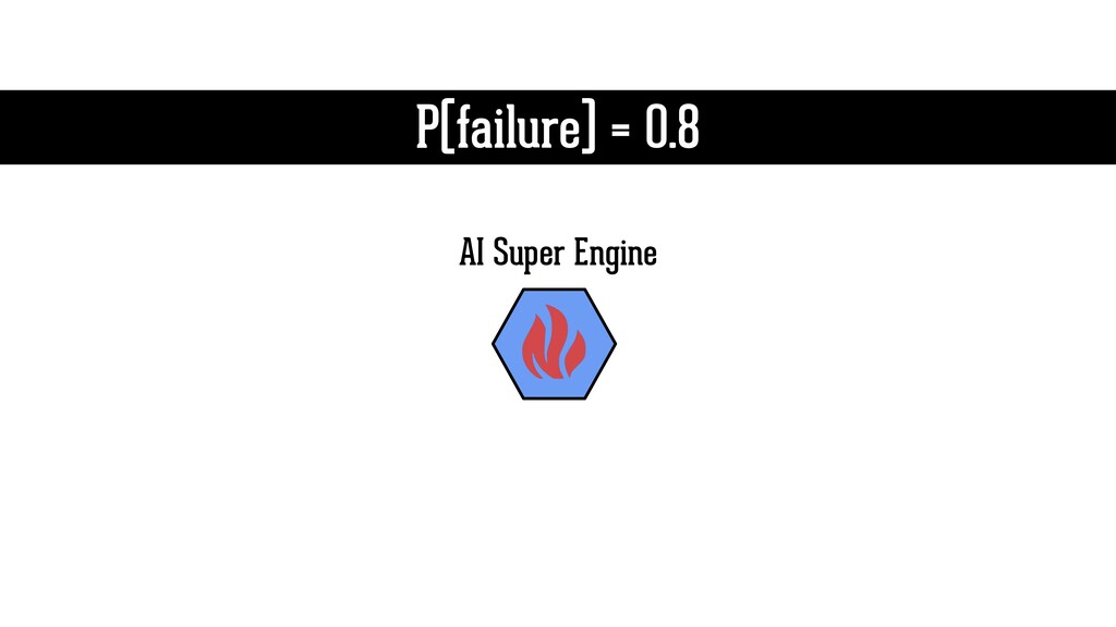 P(failure) = 0.8 AI Super Engine