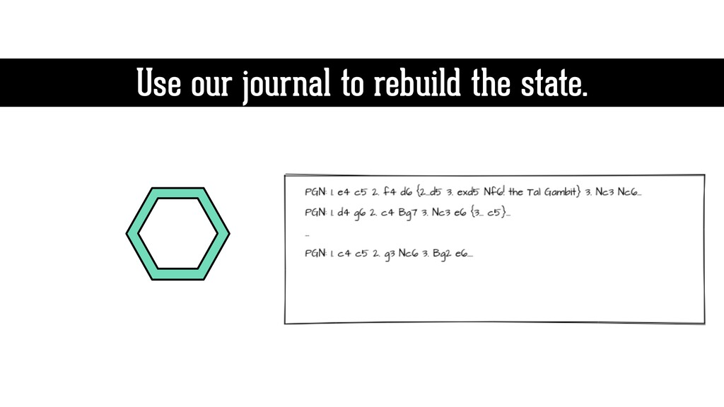 Use our journal to rebuild the state.