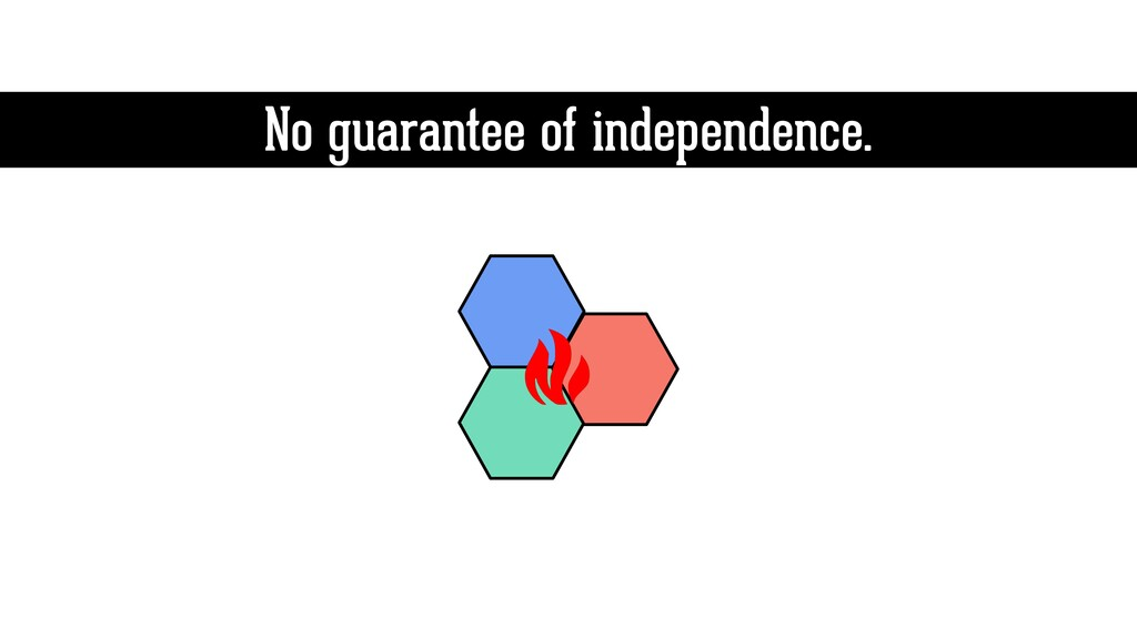 No guarantee of independence.