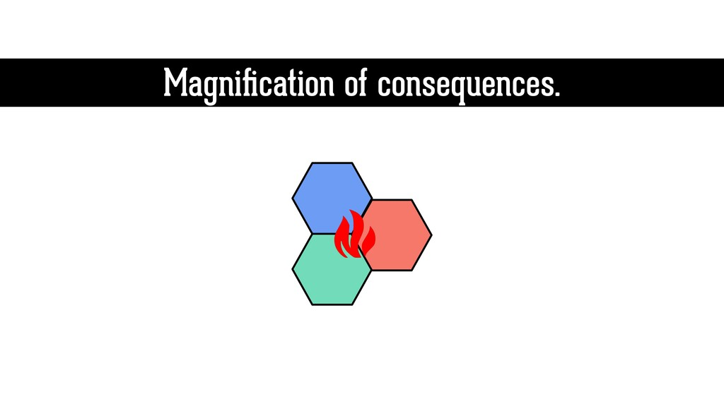 Magnification of consequences.