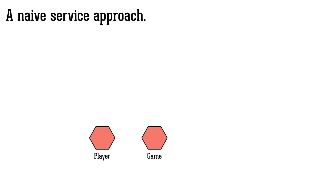 A naive service approach. Game Player