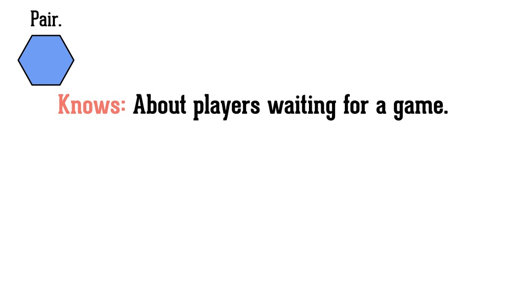 Pair. Knows: About players waiting for a game.