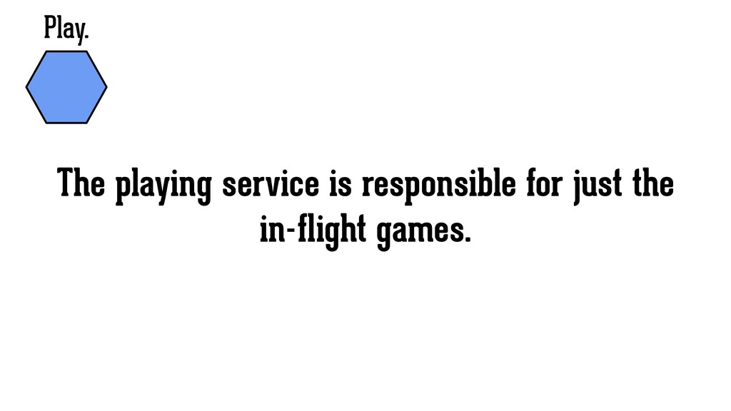 Play. The playing service is responsible for ju...