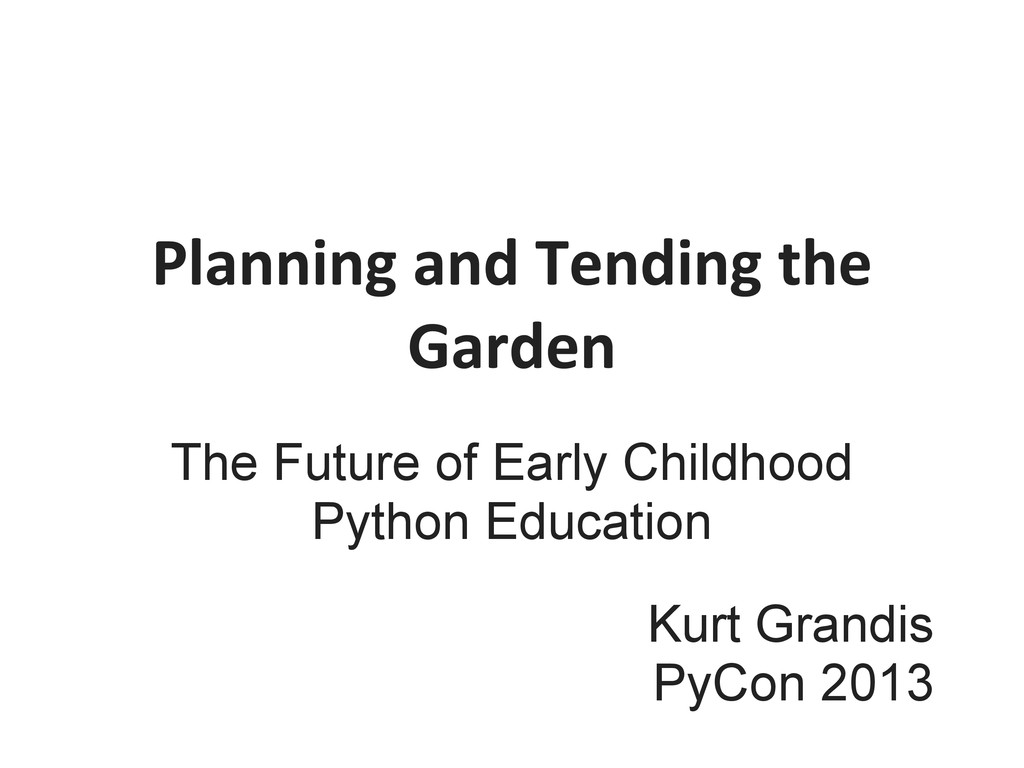 The Future of Early Childhood Python Education ...