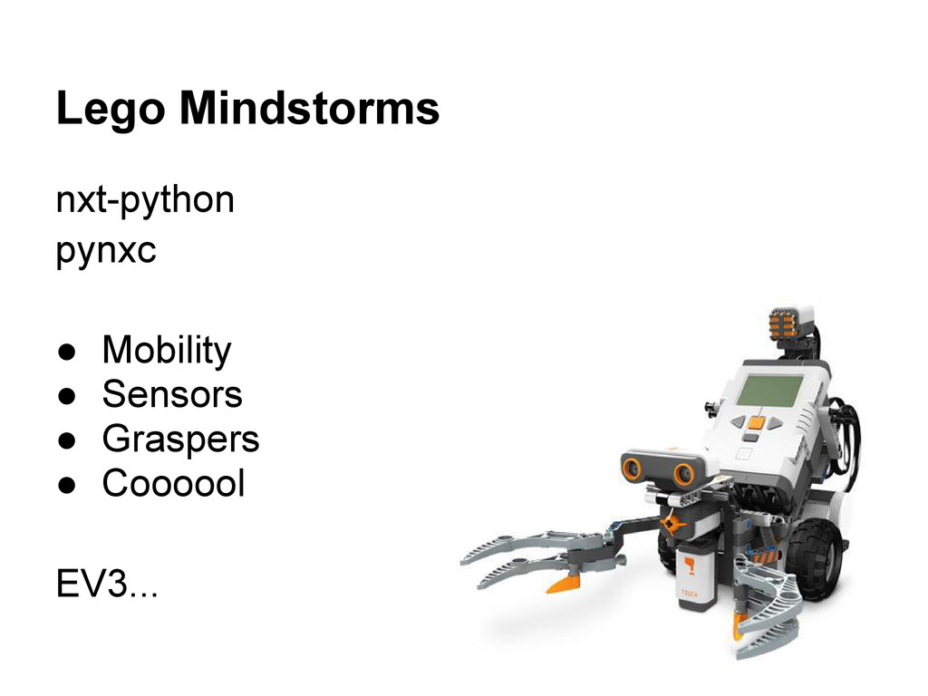 Lego Mindstorms nxt-python pynxc ● Mobility ● S...