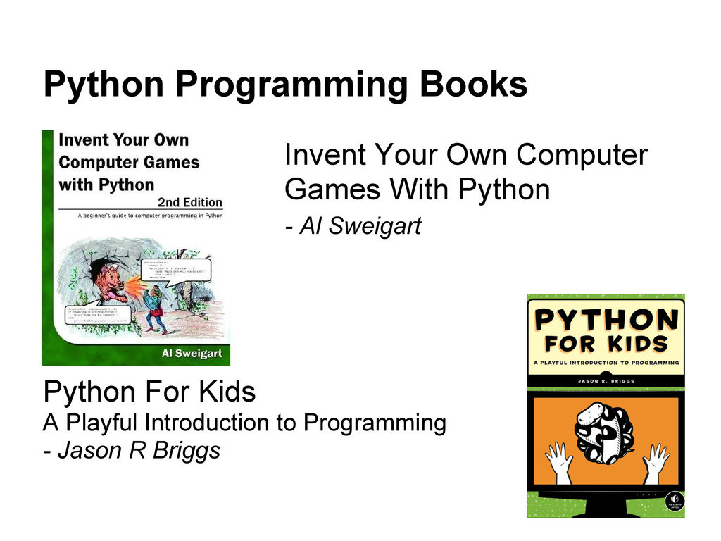 Python Programming Books Invent Your Own Comput...