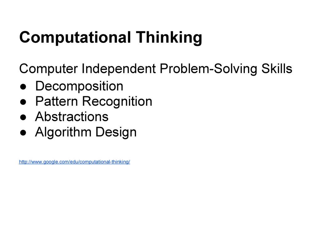 Computational Thinking Computer Independent Pro...