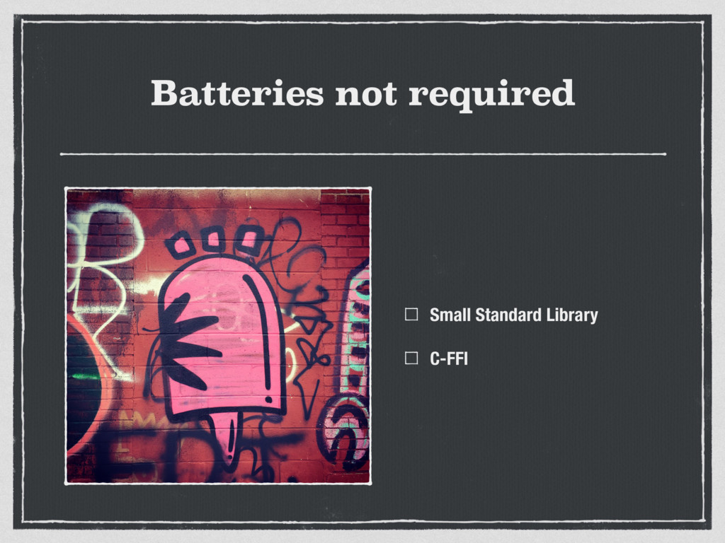 Batteries not required Small Standard Library C...