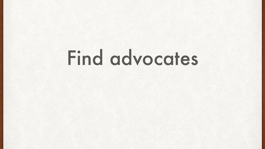 Find advocates
