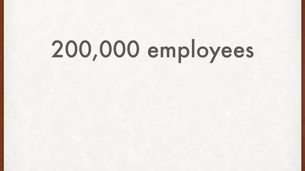 200,000 employees