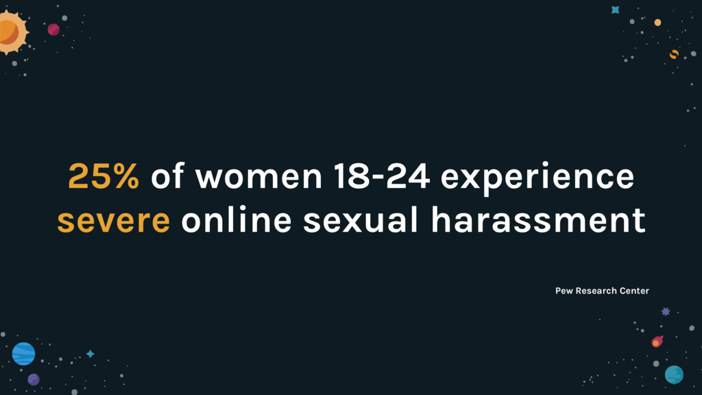 25% of women 18-24 experience severe online sex...