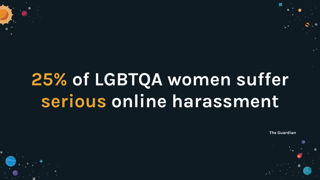 25% of LGBTQA women suffer serious online haras...