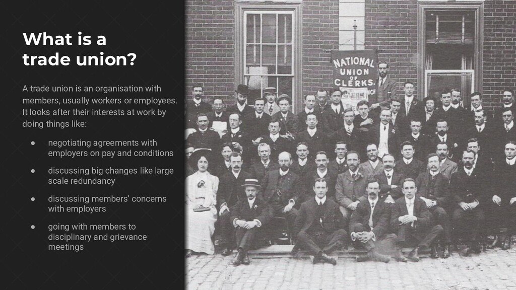 What is a trade union? A trade union is an orga...