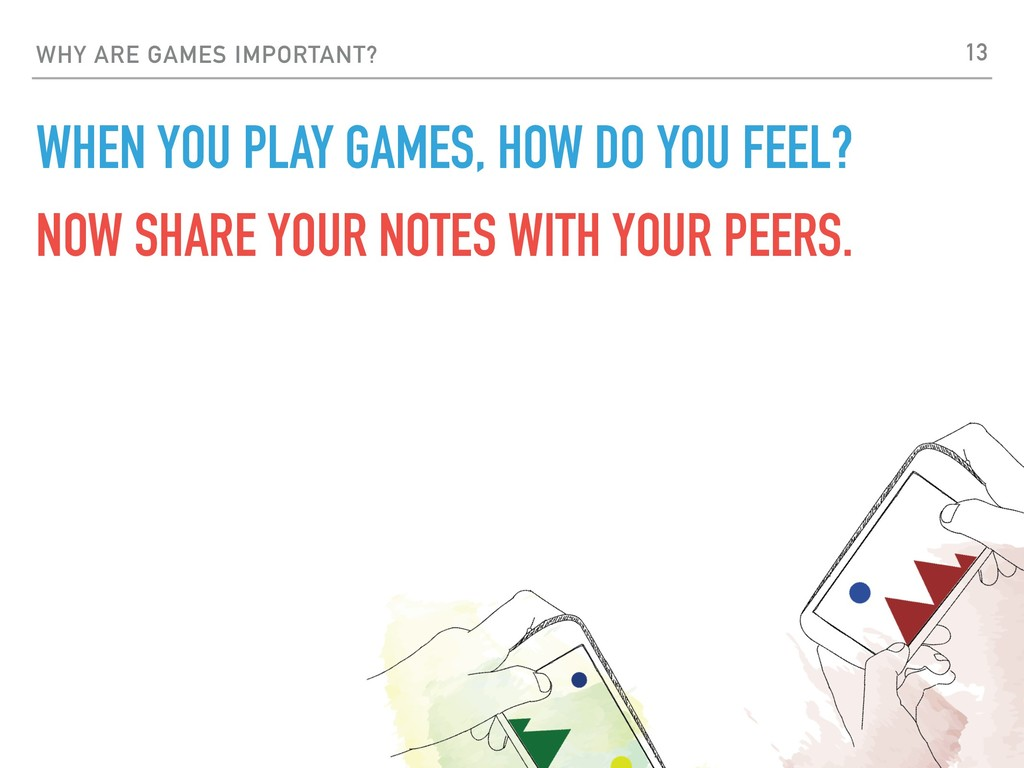 WHY ARE GAMES IMPORTANT? WHEN YOU PLAY GAMES, H...