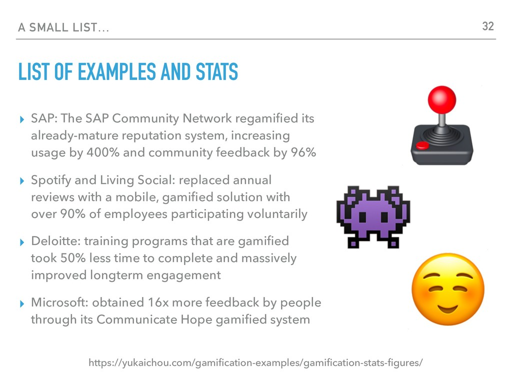 A SMALL LIST… LIST OF EXAMPLES AND STATS ▸ SAP:...