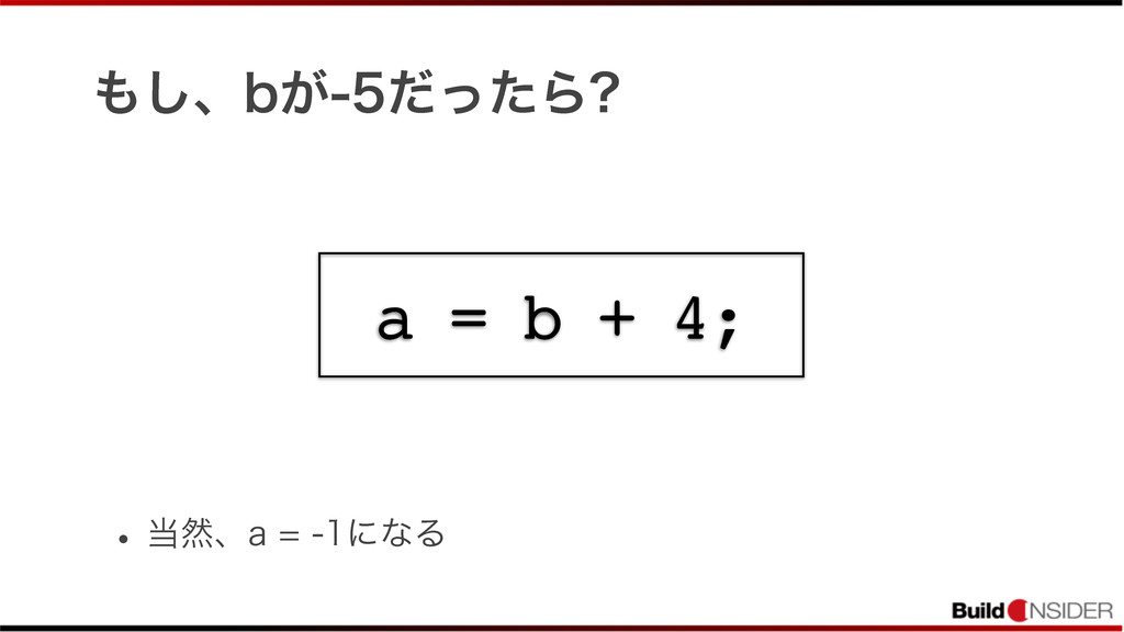 ͠ɺC͕ͩͬͨΒ w વɺBʹͳΔ a = b + 4;