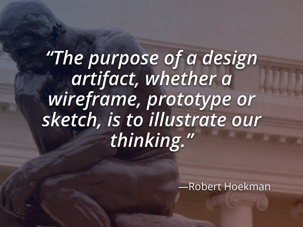 """The purpose of a design artifact, whether a wi..."