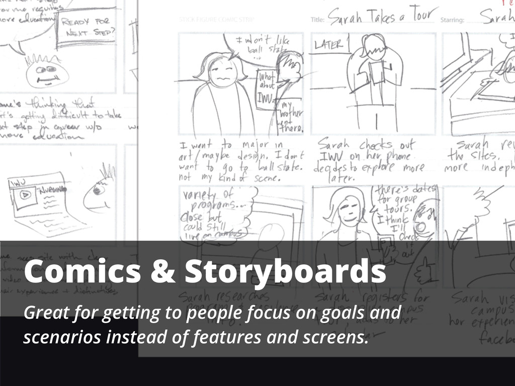 Comics & Storyboards Great for getting to peopl...