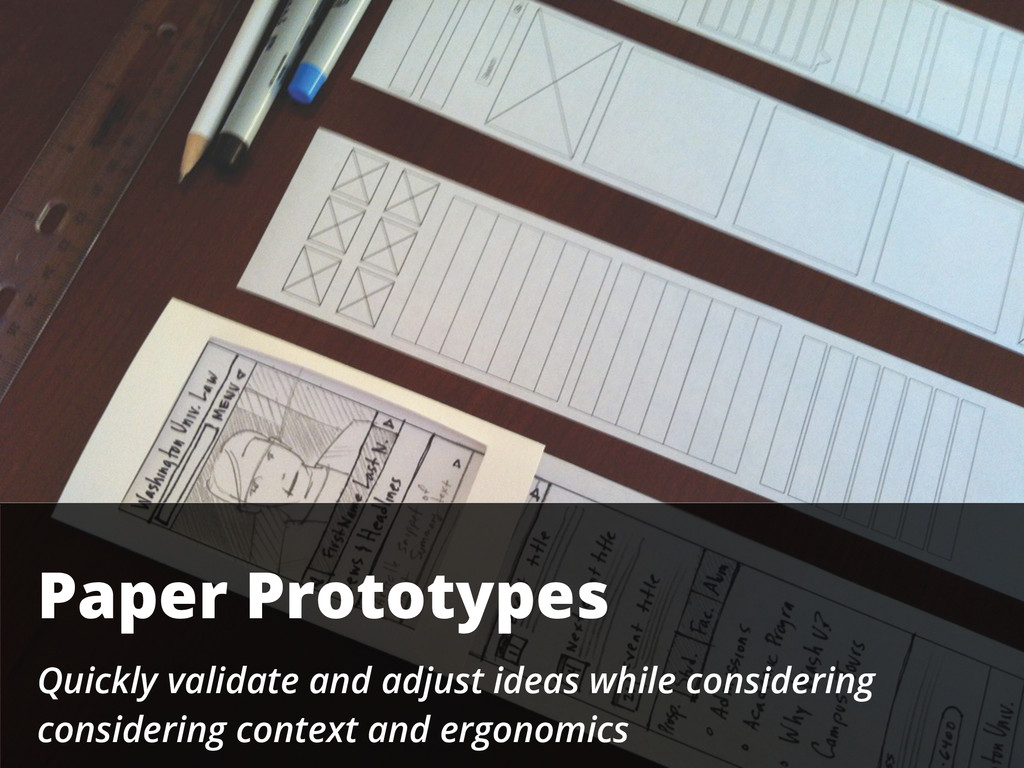 Paper Prototypes Quickly validate and adjust id...