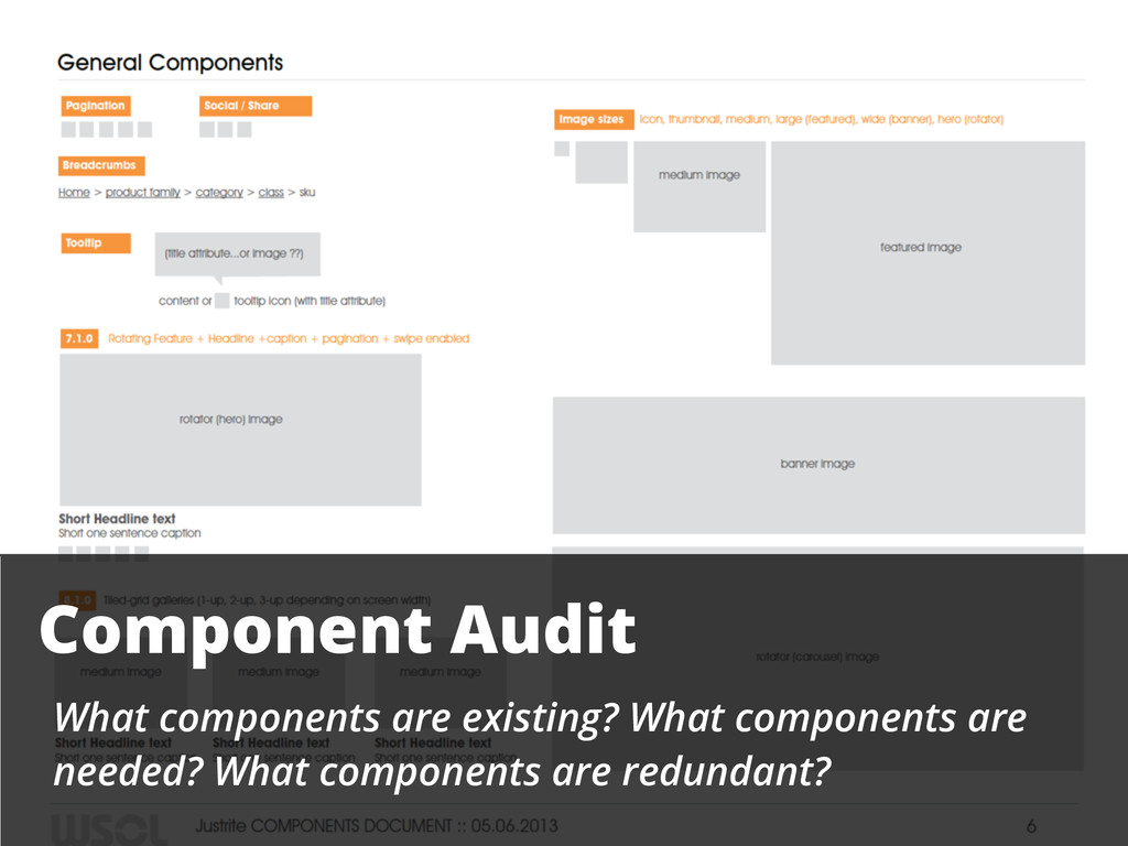 Component Audit What components are existing? W...